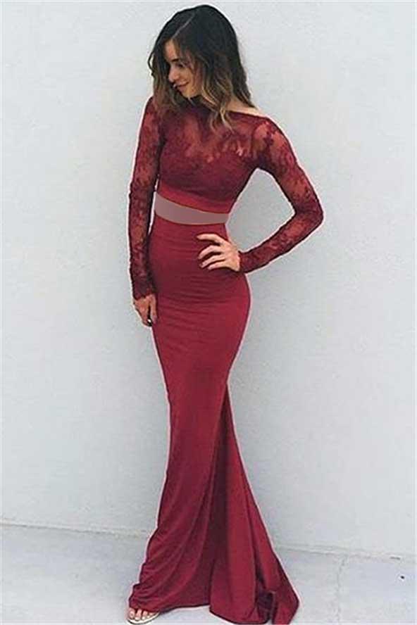 مدل لباس مجلسی دخترانه دو تیکه آستین دار 2019