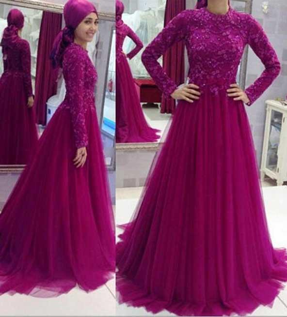 مدل لباس کار شده پوشیده مجلسی دخترانه 2019