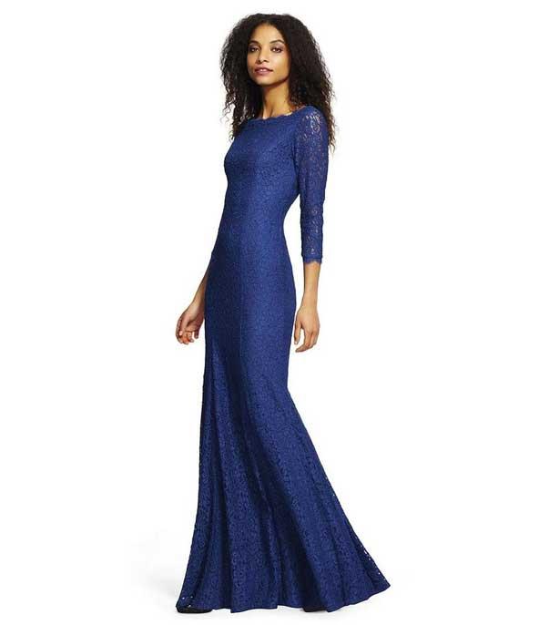 مدل لباس پوشیده مجلسی استین دار زنانه 2019