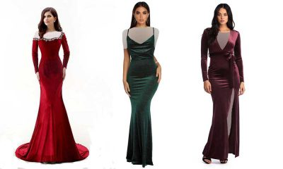مدل لباس مجلسی مخمل 2019