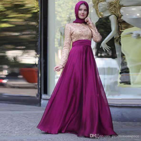 مدل لباس مجلسی بلند پوشیده جدید