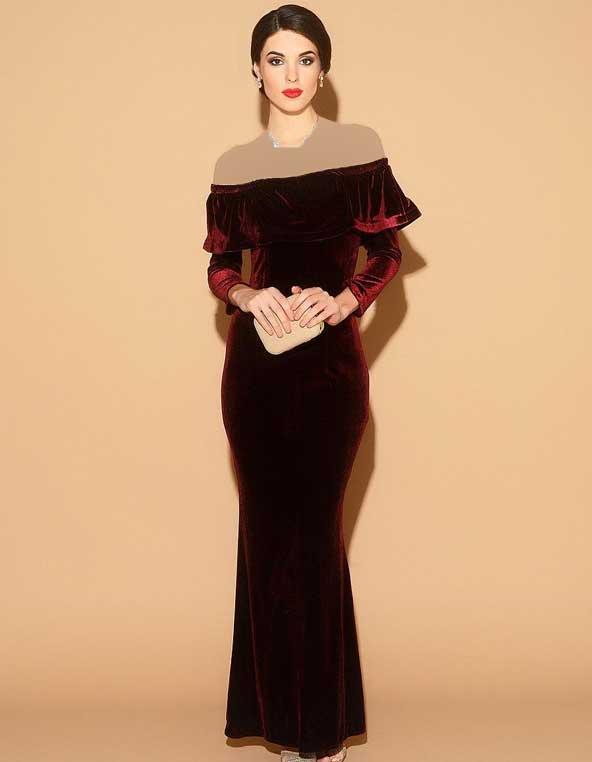 جدیدترین مدل لباس مجلسی مخمل 2019