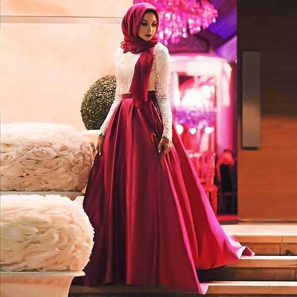 مدل لباس مجلسی پوشیده 2019 در اینستا