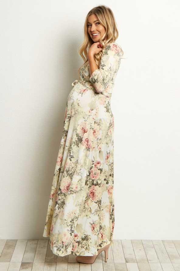 مدل لباس بارداری گلدار 98 مجلسی