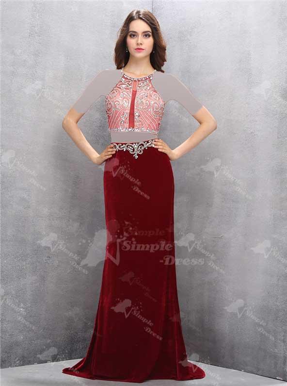 مدل لباس دو تیکه مخمل 2019