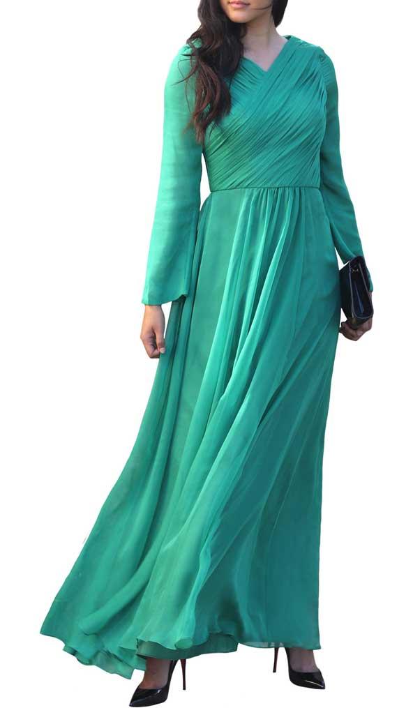 لباس مجلسی حریر پوشیده زنانه 2019 اینستاگرام