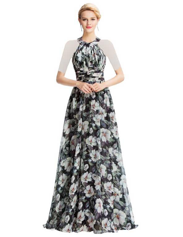 لباس نامزدی گلدار 98 جدید