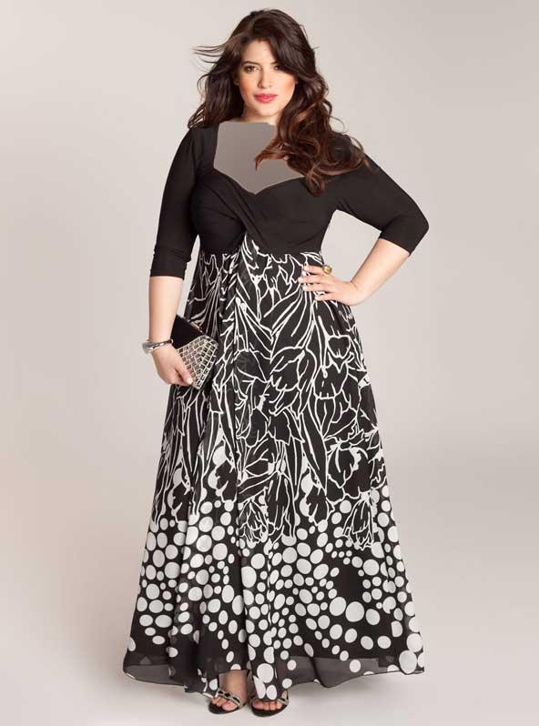 مدل لباس مجلسی ساتن جدید برای افراد چاق