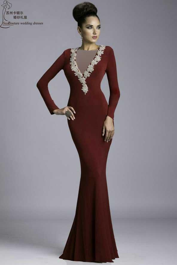 جدیدترین مدل لباس مجلسی آستین دار 2019 کره ای