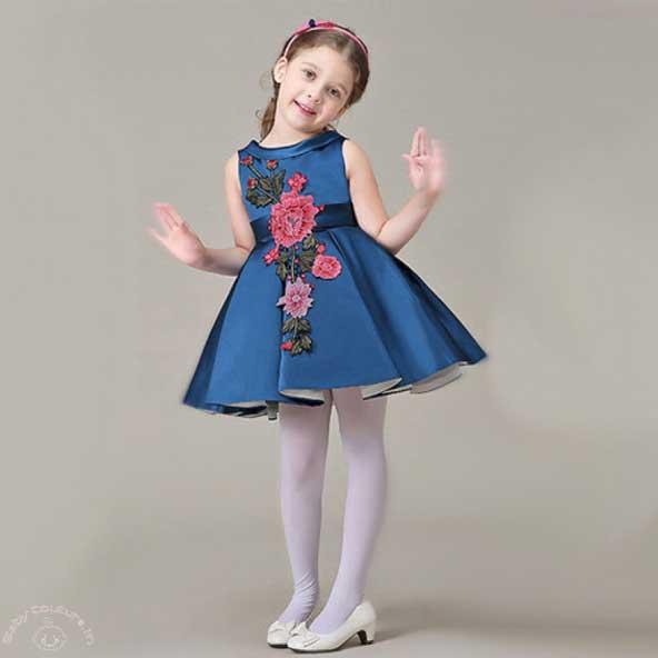 لباس مجلسی بچه گانه 2019 دخترانه با ساتن