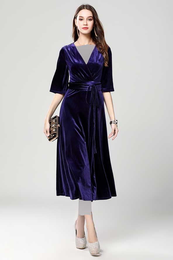 مدل لباس مجلسی 2019 با پارچه مخمل
