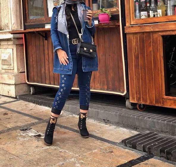 مدل مانتو جین کوتاه دخترانه 2019