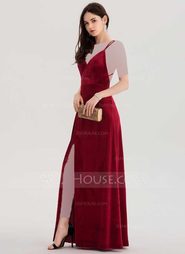 مدل لباس مجلسی بی آستین دخترانه مخمل 2019