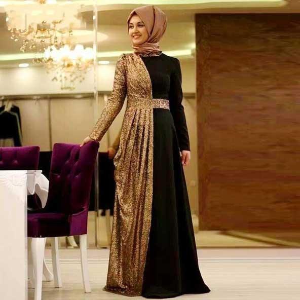 مدل لباس مجلسی پوشیده ترکیه ای 2019