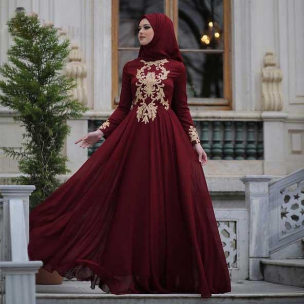 مدل لباس مجلسی پوشیده 2019 برای خانمهای محجبه