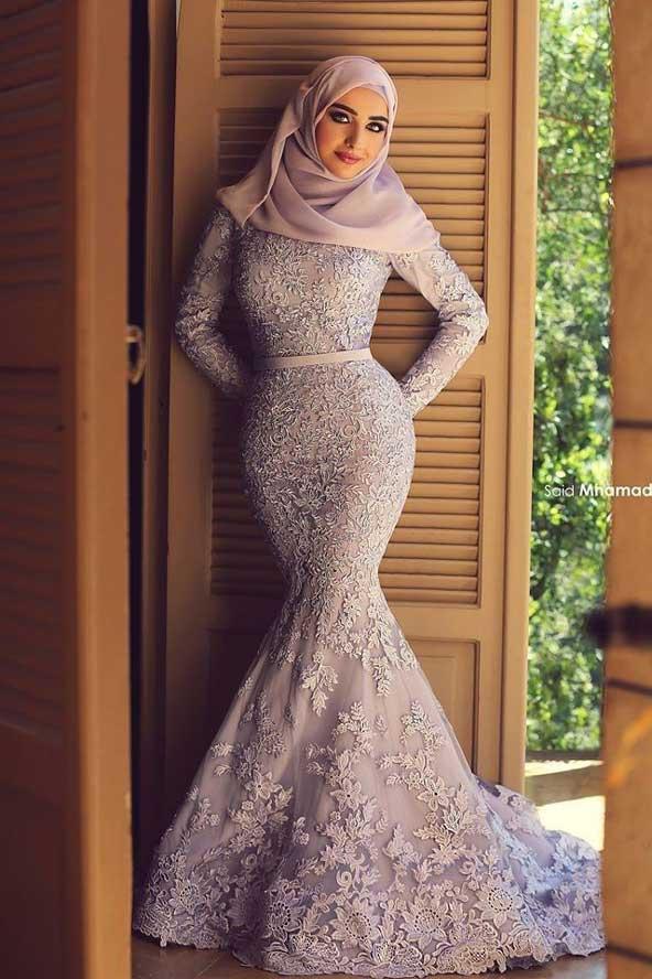 لباس مجلسی پوشیده مدل ماهی 2019