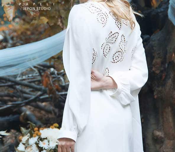 مدل مانتو مجلسی سفید رنگ 2019