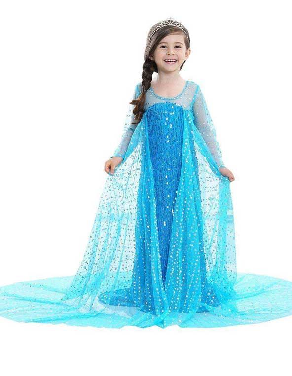 مدل لباس مجلسی دنباله دار 2019 برای دختر بچه