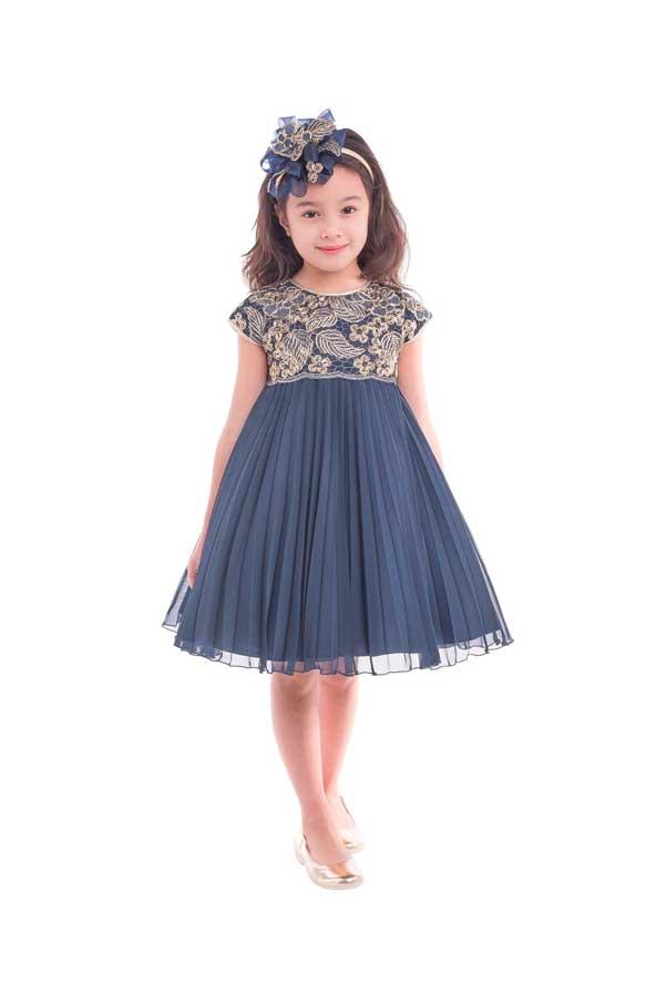 مدل لباس مجلسی بچه گانه گلدار دخترانه 98