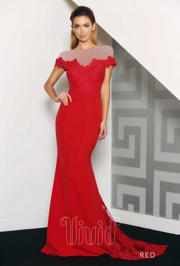 لباس نامزدی زنانه بالاتنه گیپور قرمز رنگ 98