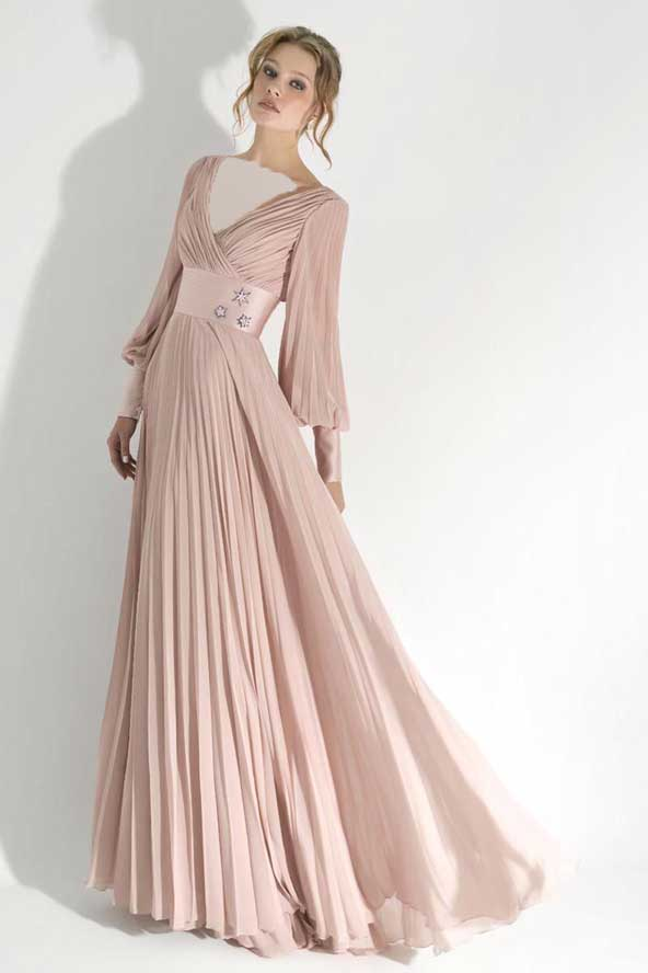 لباس مجلسی زنانه آستین دار جدید