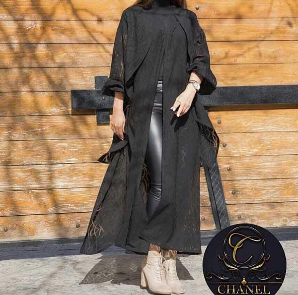 مدل مانتو ترکیه ای 2019 جدید بلند مشکی