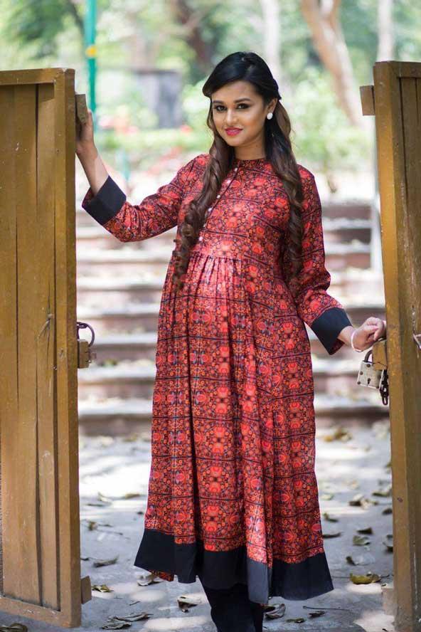 مدل لباس حاملگی بلند 98