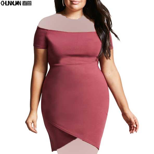 مدل لباس کوتاه مجلسی زنانه برای خانم های چاق