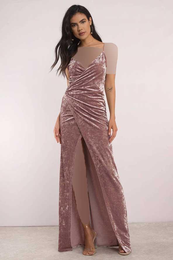 مدل لباس مجلسی زنانه 2019 مخمل