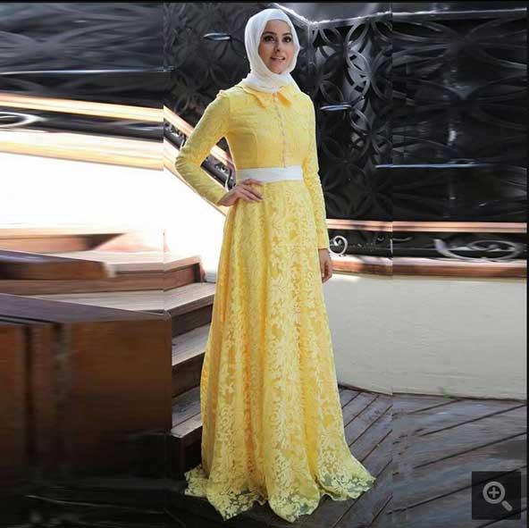 مدل لباس مجلسی گیپور 2019 پوشیده