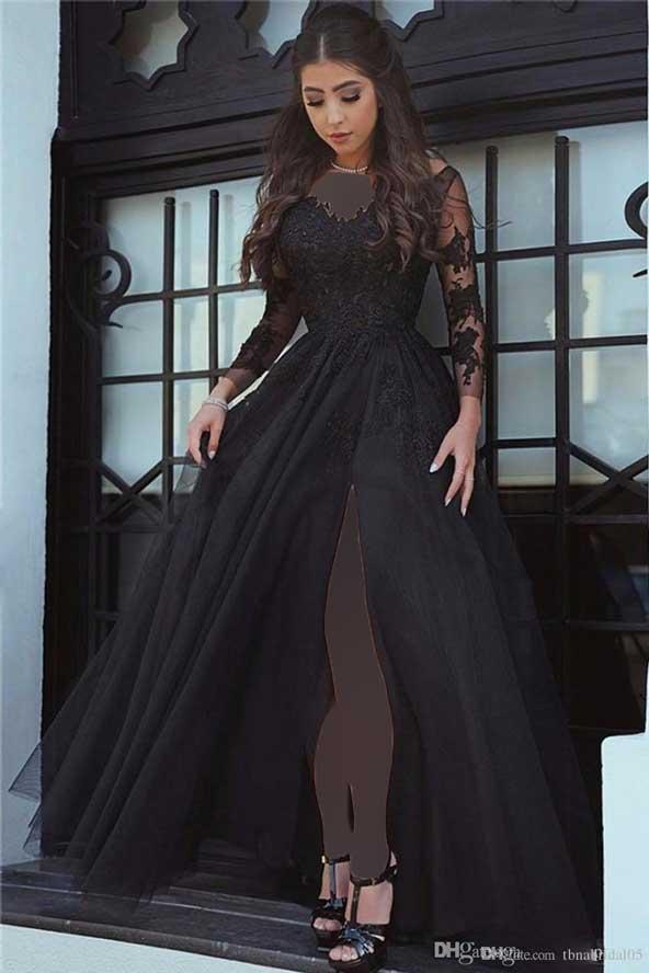 جدیدترین مدل لباس مجلسی بلند گیپور استین دار