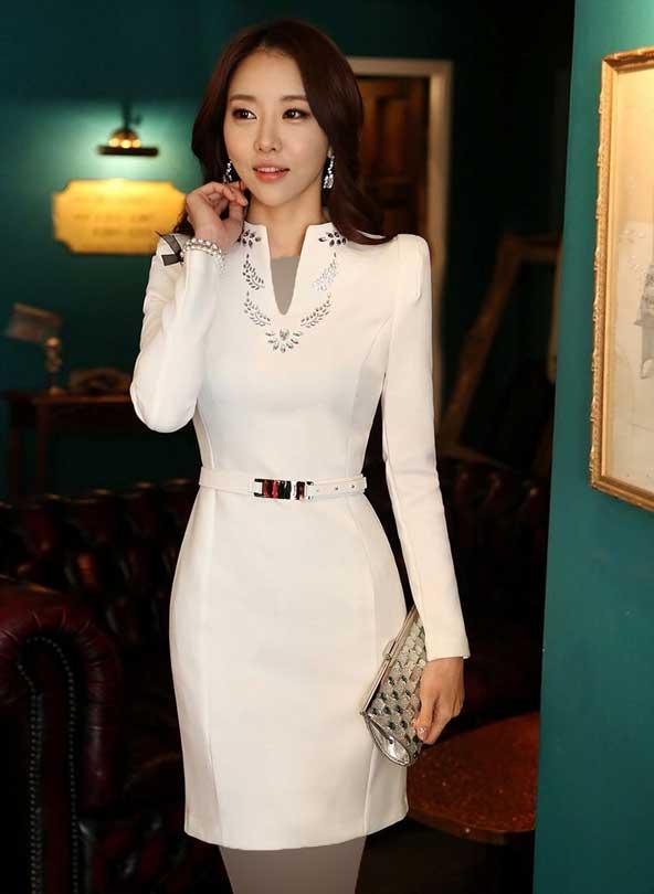 مدل لباس زنانه کره ای مجلسی شیک 2019