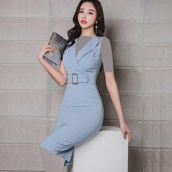 لباس مجلسی ساتن کره ای مدل جدید