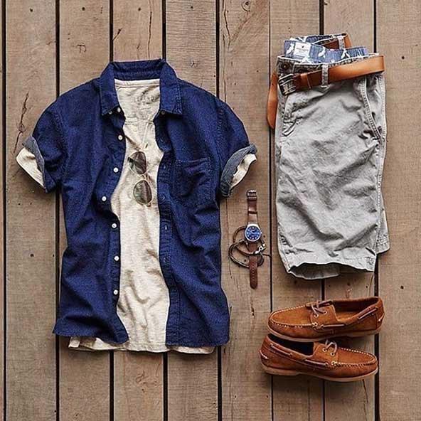 ست لباس مردانه با شلوارک 98