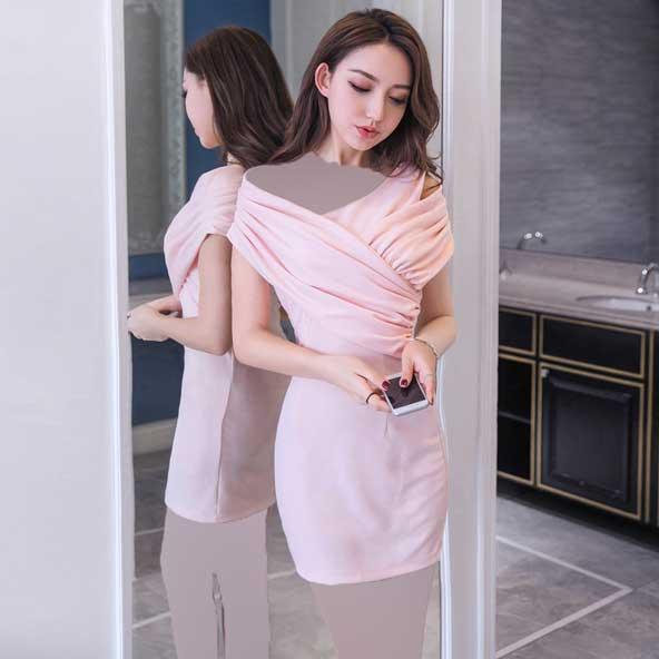 مدل لباس مجلسی دخترانه کره ای حریر 2019