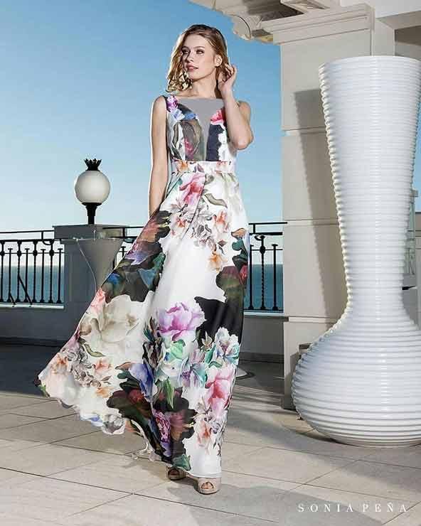 جدیدترین مدل لباس مجلسی با پارچه گلدار در سال 98