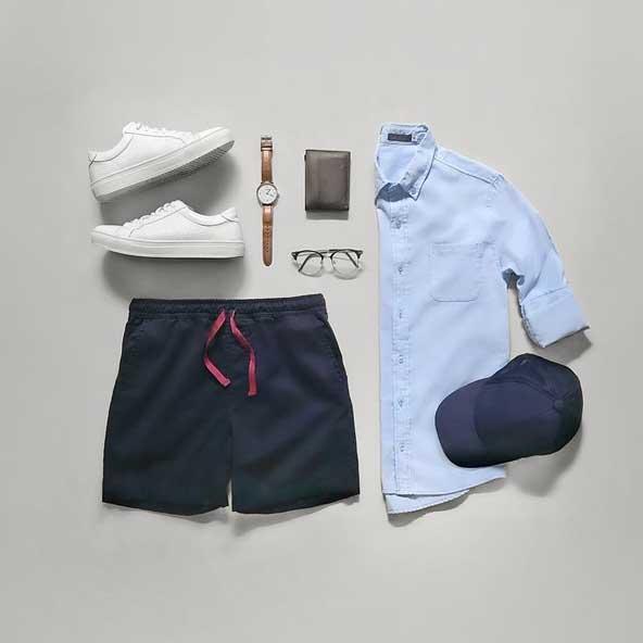 ست جدید لباس 2019 مردانه با شلوارک