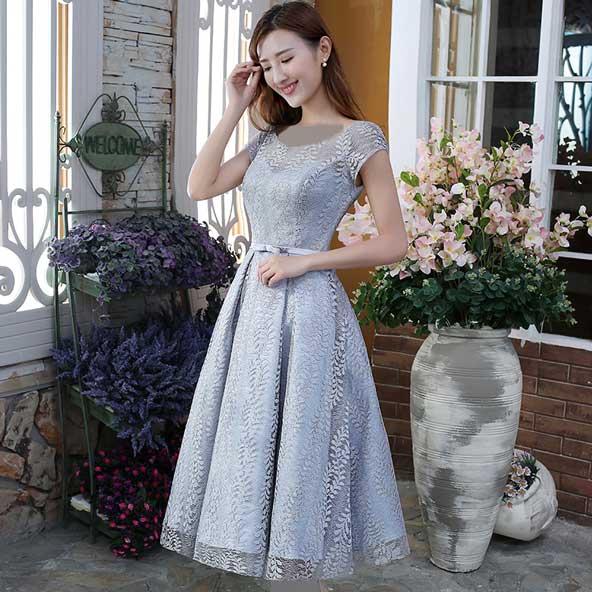 مدل لباس بلند گیپور مجلسی کره ای 2019
