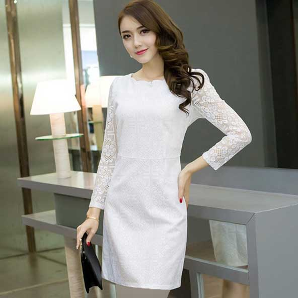 مدل لباس گیپور کره ای جدید آستین بلند
