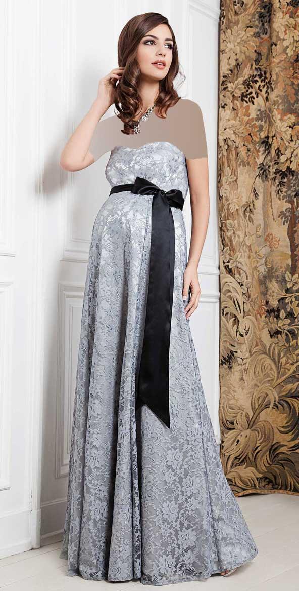 لباس مجلسی بارداری دکلته جدید 2019