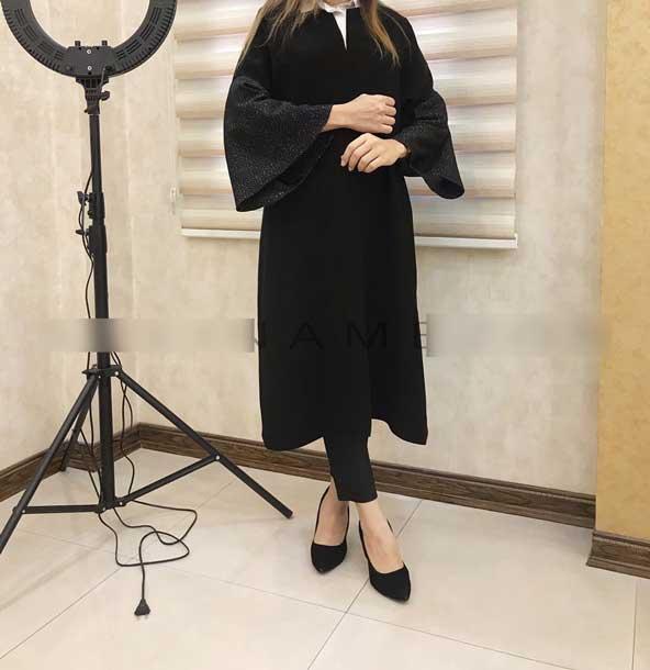 مدل مانتو زنانه جلو بسته آستین گشاد عید 98