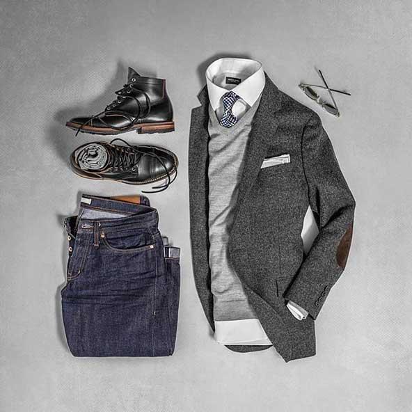 ست لباس 2019 مردانه با کت تک