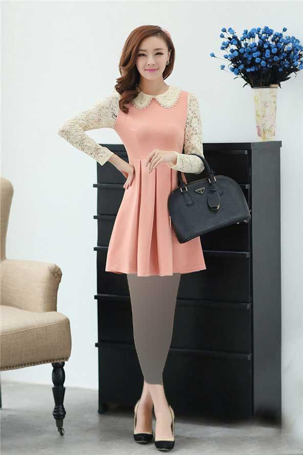 مدل لباس مجلسی آستین گیپور کره ای جدید
