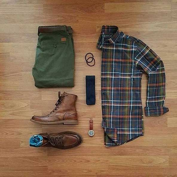 ست لباس مردانه با شلوار سبز 98