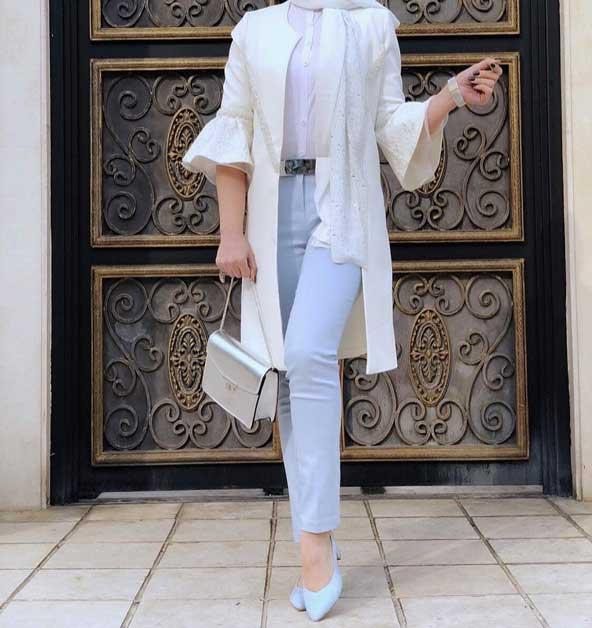 مدل جدید مانتو آستین کیمونو دخترانه 98
