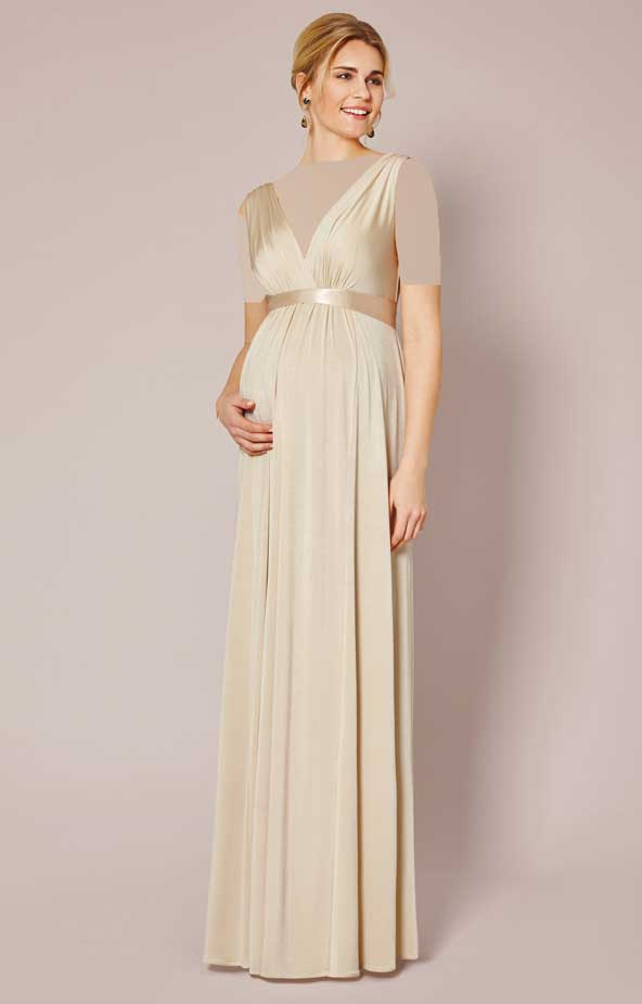 مدل لباس مجلسی بارداری بلند 2019