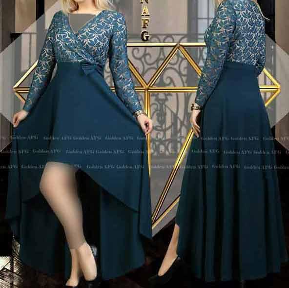 مدل لباس مجلسی استین دار بلند بسیار شیک