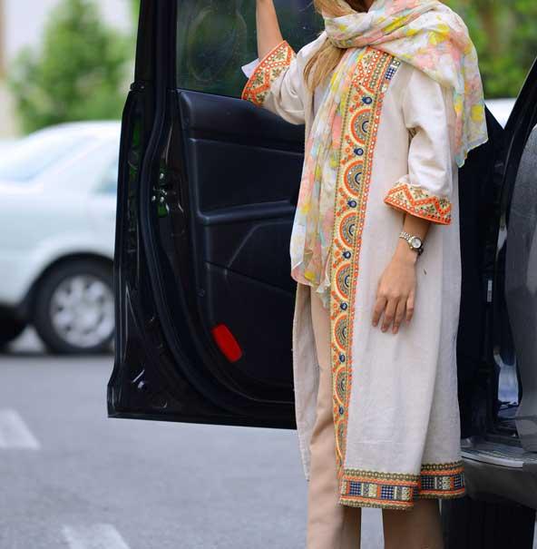 مدل جدید مانتو طرح سنتی عید 1398 دخترانه