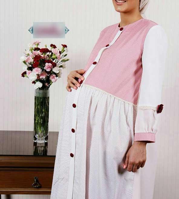 مانتو آستین گلدار مدل بارداری 98