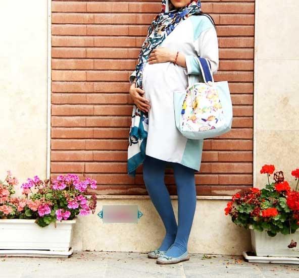 مانتو کوتاه بارداری بسیار شیک 98